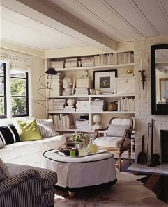 A lovely cottage nook for reading by Stephen Shubel. (Source: desiretoinspire.net)